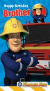 Fireman Sam Brother Birthday Card with Badge